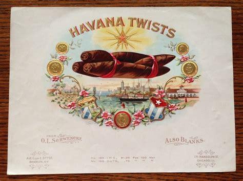 Label Ol Shop twists original antique cigar box label ol schwencke lithograph ebay