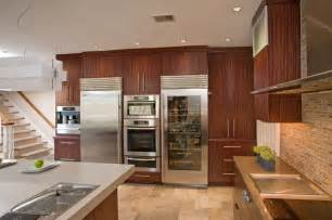 Kitchen U Shaped Design Ideas Kitchen With Sub Zero Refrigerators And Miele Ovens
