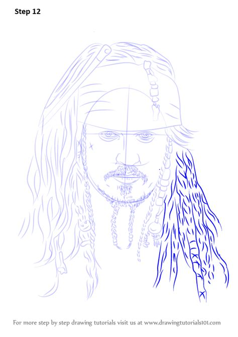 how to draw jack sparrow easy step by step characters pop culture learn how to draw captain jack sparrow characters step