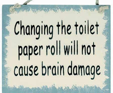 Changing To Win quot changing the toilet paper roll quot sign magnet