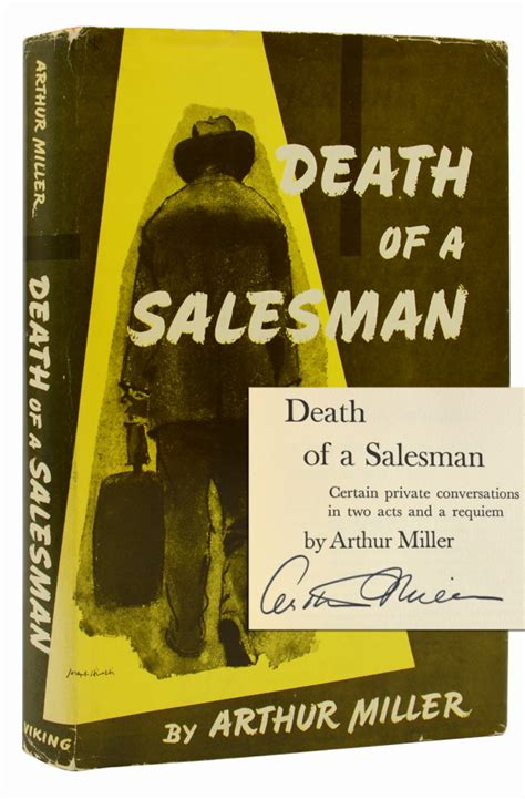 themes in the book death of a salesman death of a salesman signed first edition arthur miller