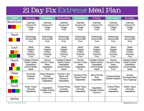 21 Day Detox Diet Plan Pdf by Tips To Create A 21 Day Fix Meal Plan Clean