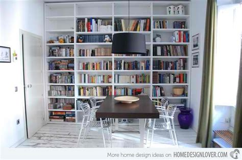bookshelves in dining room 15 ideas for adding bookshelves in the dining room home design lover