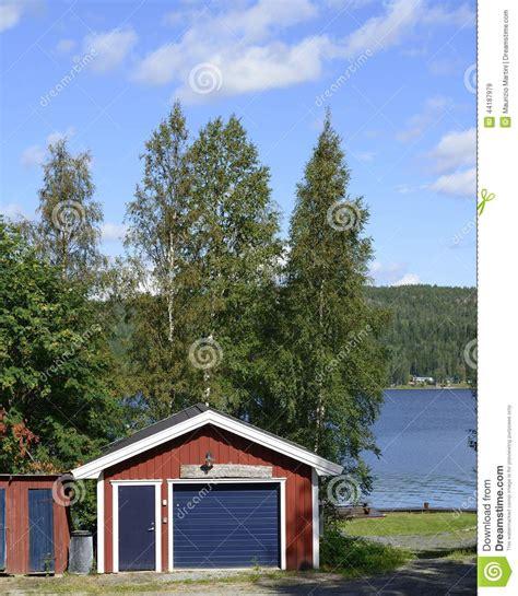 Swedish Lakeside Cabins by Swedish Lakeside Stock Photo Image 44187979