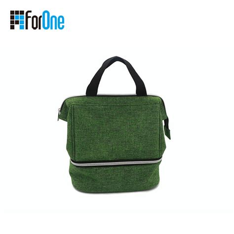 linen lunch bag china manufacturer for linen lunch bag with metal frame