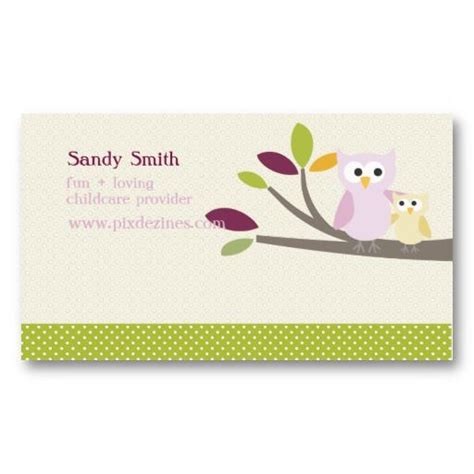 baby business card template 17 best images about child care business cards on