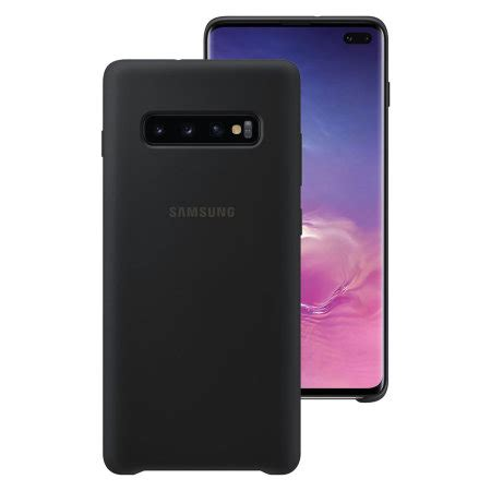 Samsung Galaxy S10 Zap by Official Samsung Galaxy S10 Plus Silicone Cover Black