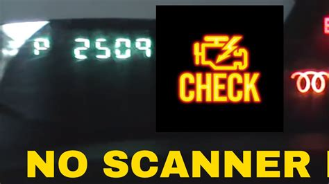 no check engine light how to check check engine light no scanner vehix411