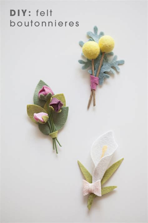 diy boutonniere flowers this wedding bouquet is made out of felt flowers learn how