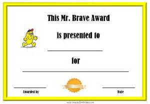 Bravery Certificate Template by Award Certificates With The Mr