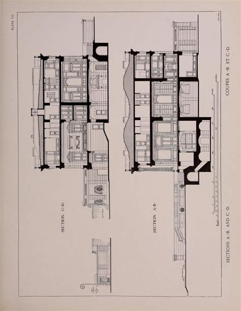 petit trianon floor plan section through the petit trianon versailles pinterest