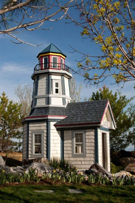 backyard lighthouse 27 completely awesome backyard playhouse ideas cape cod