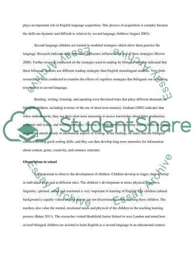 Being Bilingual Essay by Policy And Practice In The Education Of Bilingual Children Essay