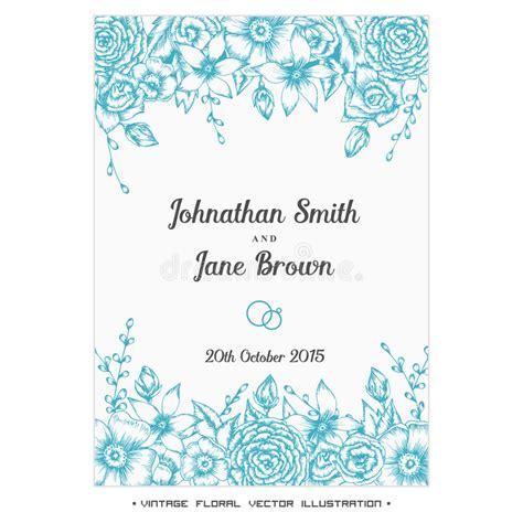 wedding invitation border designs aqua blue vector vintage floral wedding invitation stock vector illustration of date greeting 56829145