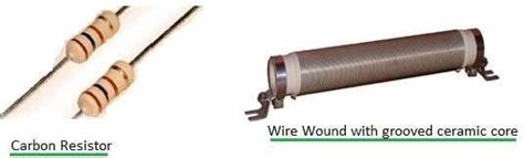 difference between carbon resistor vs wire wound resistor