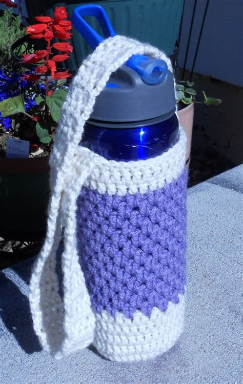 water bottle holder pattern crochet water bottle holder pouch ivory and by