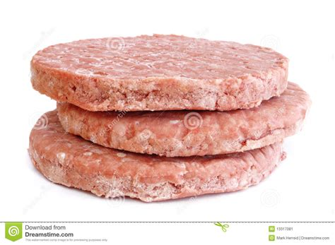 Daging Sapi Burger Beef Patty three frozen hamburger patties stock image image 13317081