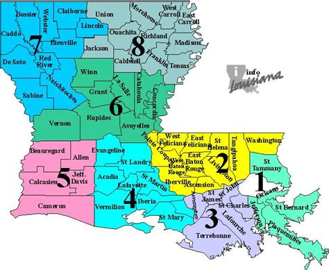 louisiana governor map special edition sub state region maps for the u s