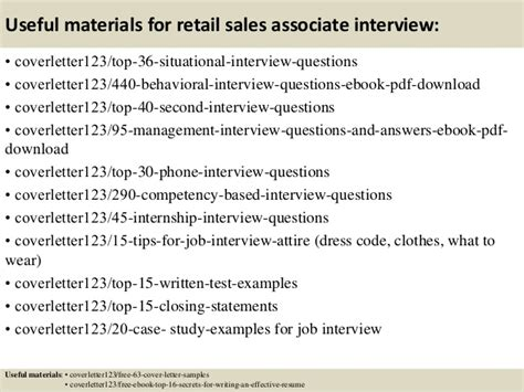 top 5 retail sales associate cover letter sles