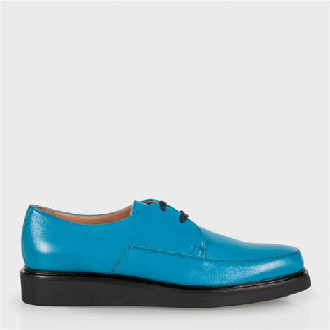 Turquoise Shoes by Paul Smith S Turquoise Buffalino Leather Nico Shoes