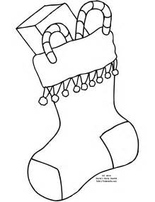 stocking colouring pages