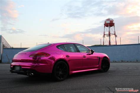 chrome porsche panamera pink chrome porsche panamera by impressive wrap