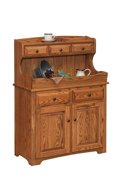 Amish Kitchen Furniture High Back Dry Sink Amish Furniture Connections Amish