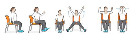 chair exercises for elderly adults 7 best images of printable seated exercises for seniors