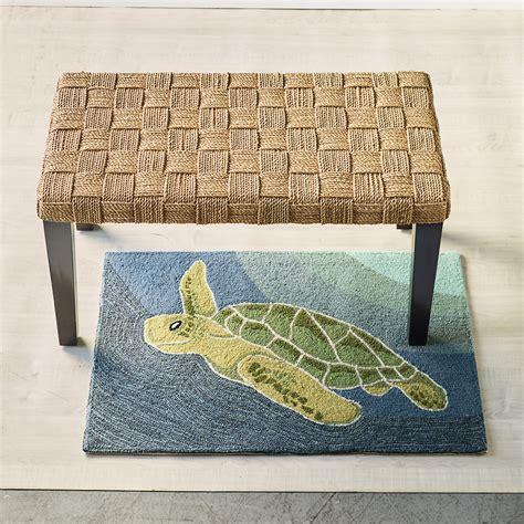 turtle rug sea turtle indoor outdoor accent rug gump s