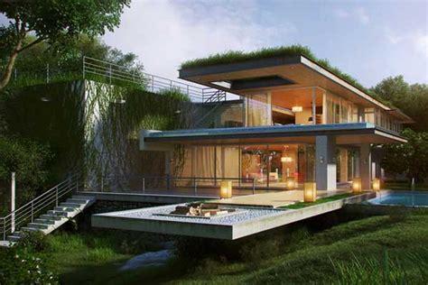 Mendesain Rumah Tropis desain gambar rumah minimalis tropis modern 2017