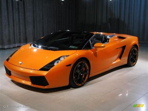 Orange Lamborghini 2008 Pearl Orange Lamborghini Gallardo Spyder E Gear