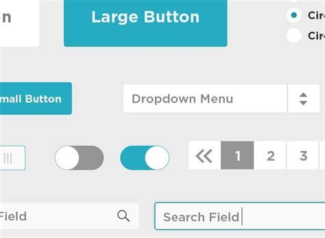 Html Design Radio Button | free blue flat ui kit psd titanui