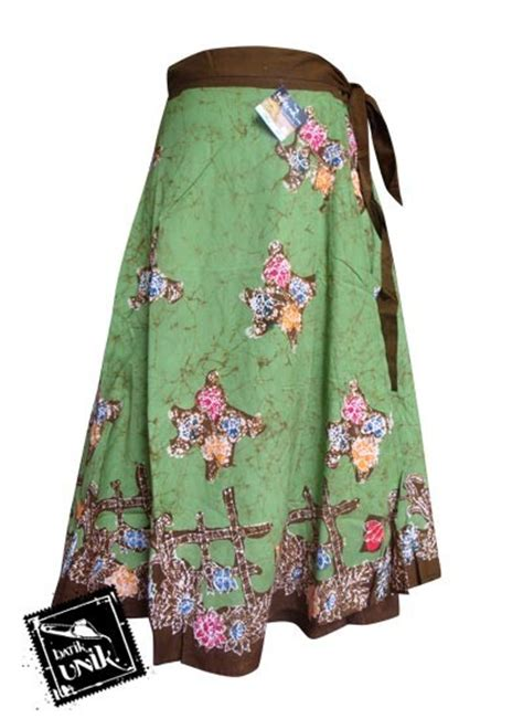 Set Kabaya Batik Rok Batik Rok Lilit Atasan Wanita Bawahan Wanita rok batik lilit pendek motif cap sekar ikat murah batikunik