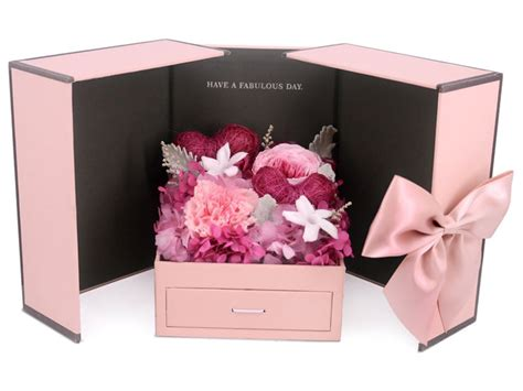 Box A Single David White Purple Preserved Flower preserved forever flower preserved dried flower box m67 px0330a3 give gift boutique