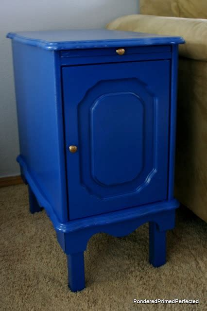 spray painting end tables pondered primed perfected end table makeover with spray paint