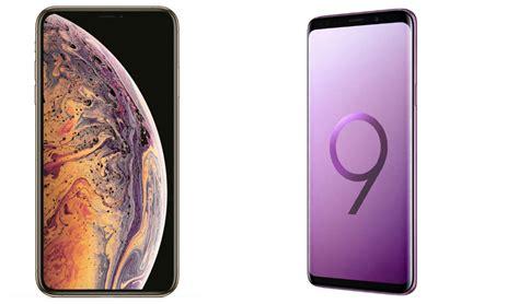 comparativa iphone xs vs samsung galaxy s9