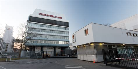 porsche headquarters stuttgart file porsche headquarters stuttgart entrance 2013 march jpg