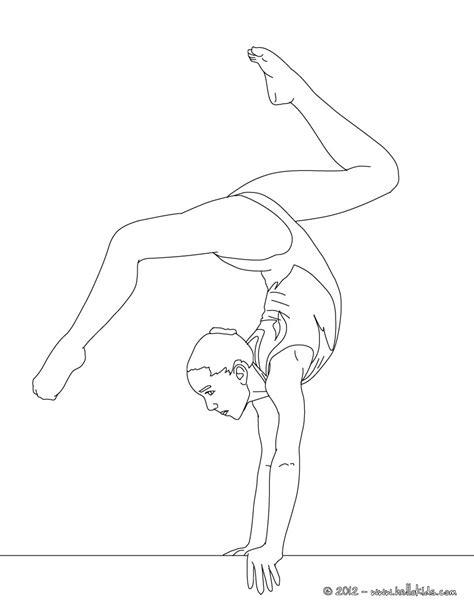Gymnastics Coloring Pages Beam | balance beam artistic gymnastics coloring pages
