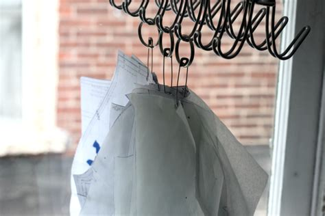 pattern hangers hooks storage ideas for printable pdf sewing patterns