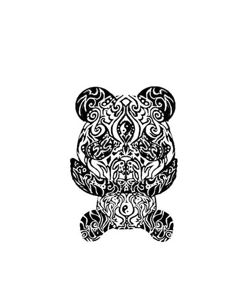 tribal panda tattoo tribal panda by butterflywing1234 on deviantart