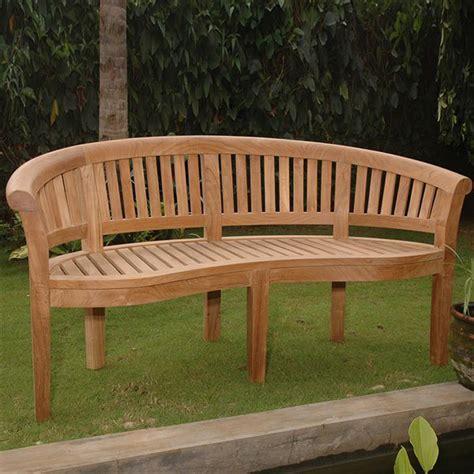 teak patio bench shop anderson teak curve 26 in w x 64 in l teak patio