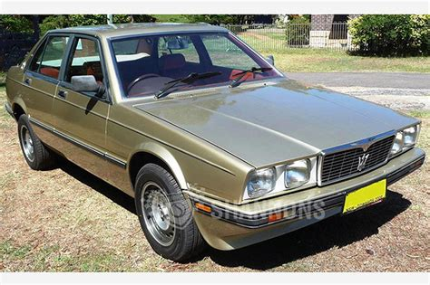 maserati biturbo sedan maserati biturbo 425i sedan auctions lot 11 shannons