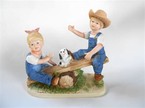 home interior denim days figurines denim days playtime homco figurine porcelain home interiors