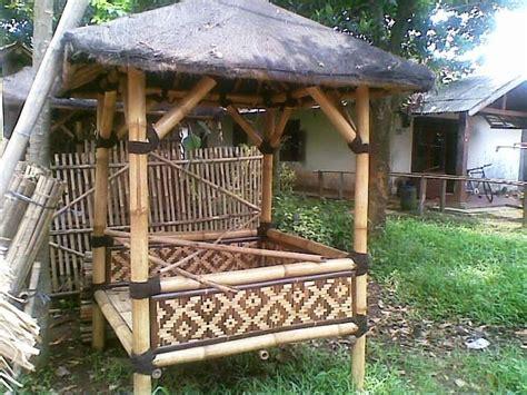 Saung Bambu Depok Murah by 081387245587 Jasa Saung Gazebo Bambu Kayu Murah Jakarta