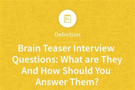 Brain Teaser Mba Interviews by Brain Teaser Questions My Resume