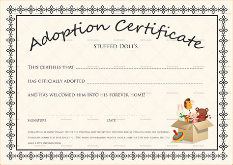 blank adoption certificate template adoption certificate template mangdienthoai