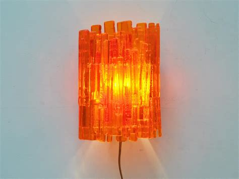 Lu Industri large orange wall light by claus bolby for cebo industri