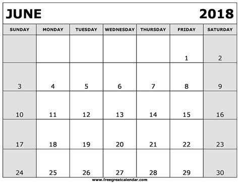 printable june 2018 calendar blank june 2018 calendar printable