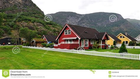 Scandinavian Design House norwegian house royalty free stock photos image 26208948