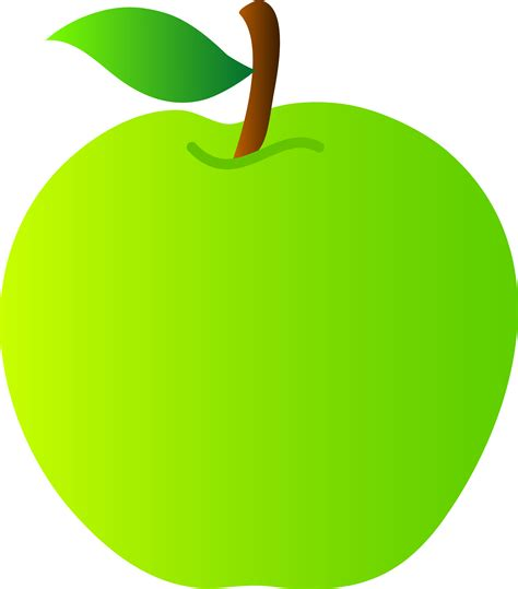 apple clipart green apple vector drawing free clip